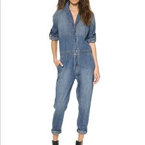 current elliott mechanic denim jumpsuit